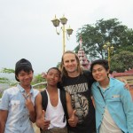 Making friends on Mandalay Hill with the people of Myanmar