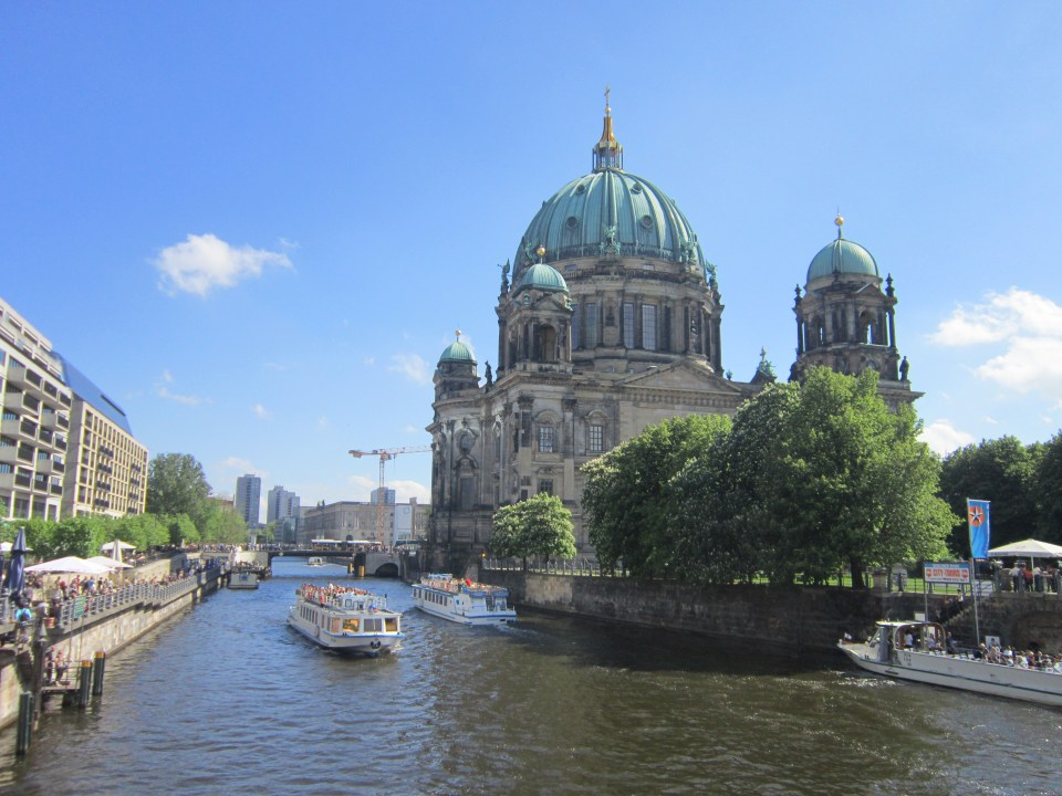 things to do in Berlin - view of museum island, including the Berlin Cathedral