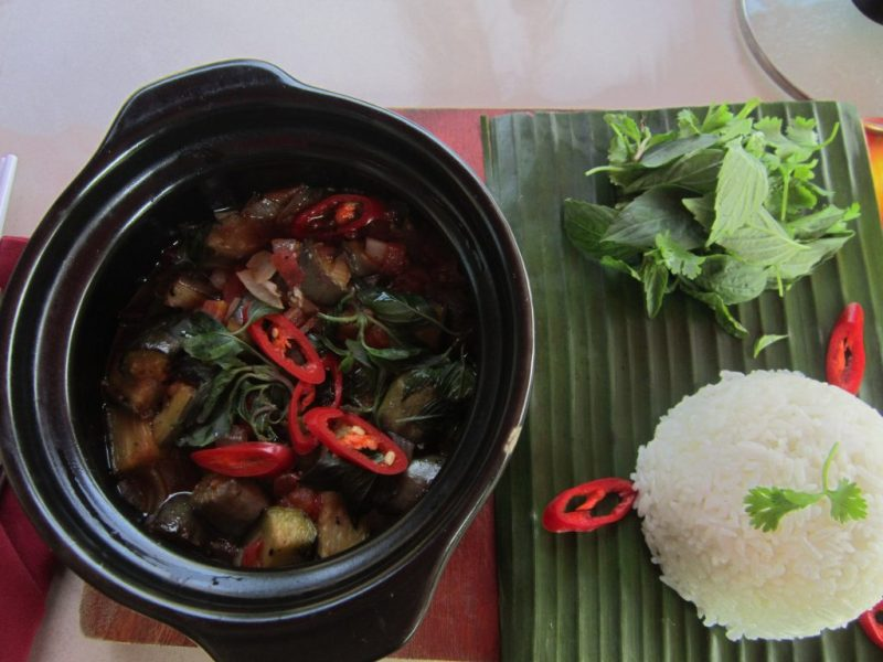 Chay hotpot. Food for a Vegetarian In Southeast Asia