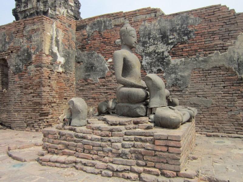 Phra Prang Sam Yod Buddha statue in Lopburi