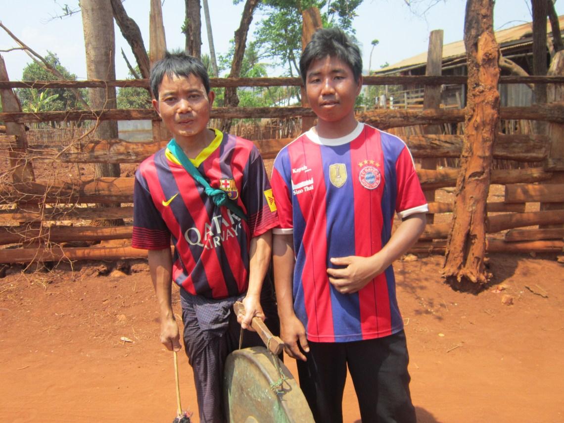 The people of Myanmar - Men in a Karenni village near Loikaw