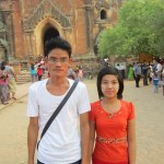 The people of Myanmar - A couple visiting temples in Bagan