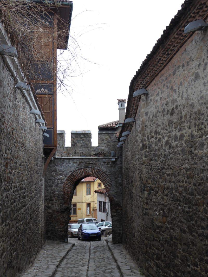 Old city gate in Plovdiv, Bulgaria
