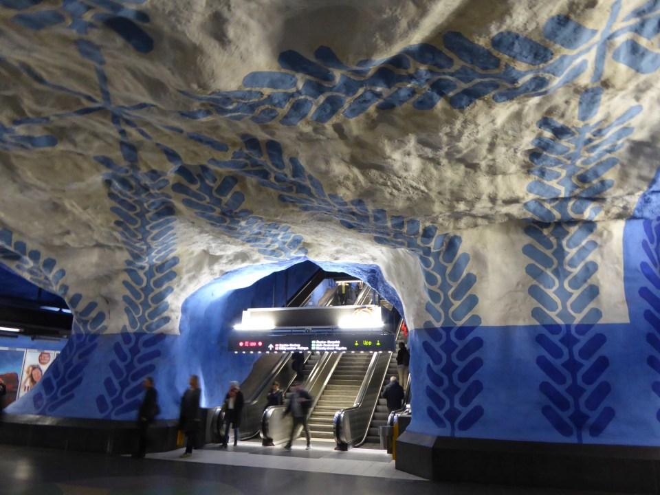 Art display, T-Centralen Station, Stockholm