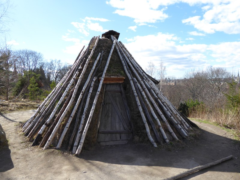 Photo of a Sami shelter in Skansen Open Air Museum, Stockholm