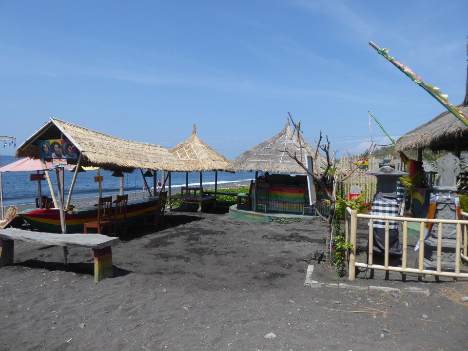 Restaurant on the beach at Amed