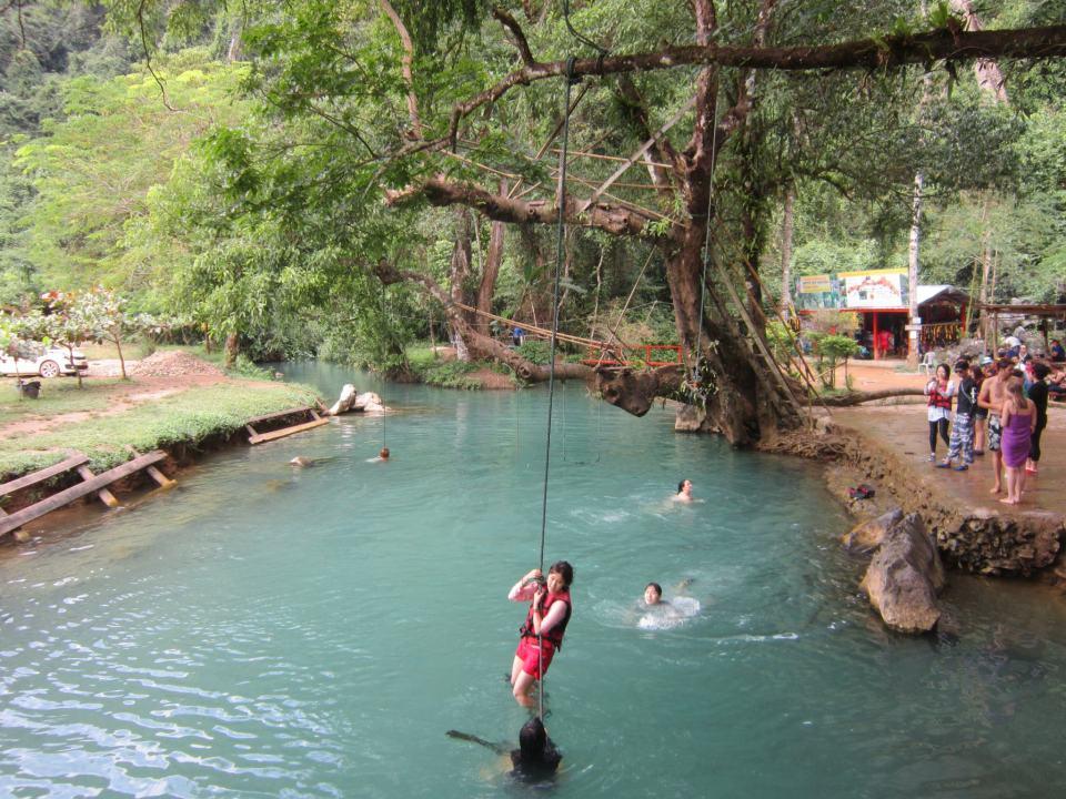 The Blue Lagoon near Vang Vieng