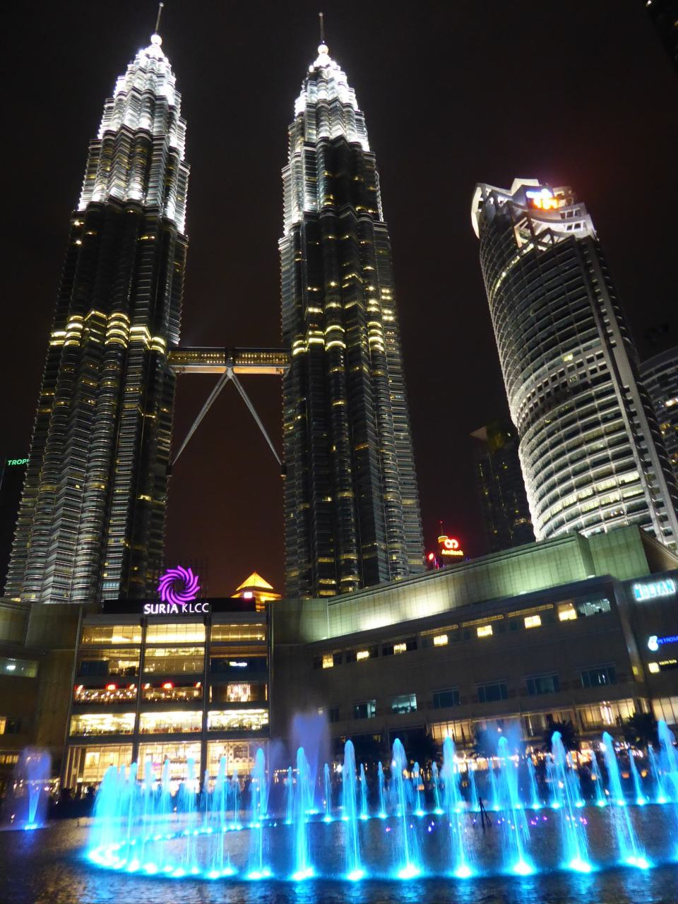 Petronas Twin Towers at night. A must see on any Peninsular Malaysia Itinerary