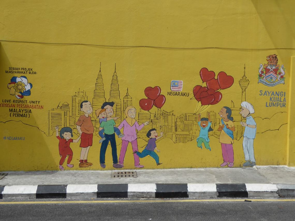 Kuala Lumpur Travel Guide - Street Art of children playing with balloons
