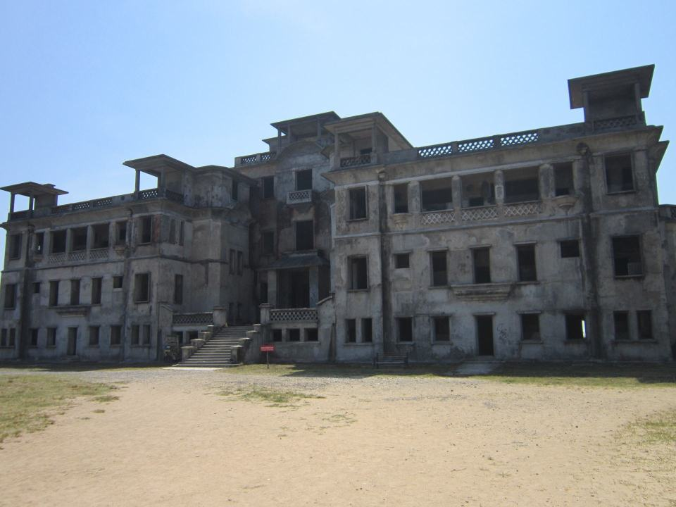 A view of the abandoned Bokor Hotel