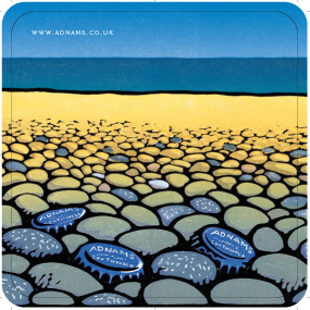 Adnams 'Pebbles' Beer mats front 4