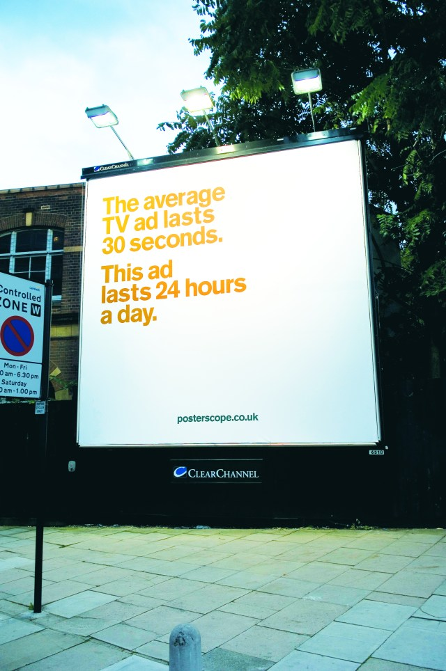 'The average' Posterscope, Dave Dye, DHM