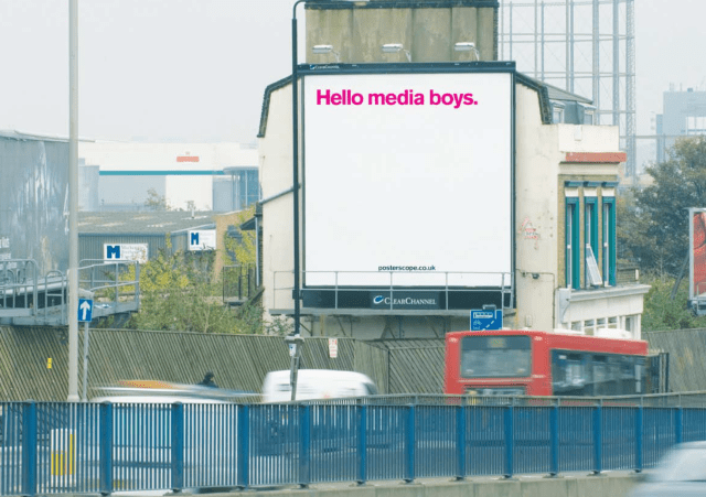 'Hello Media Boys' Posterscope, Dave Dye, DHM