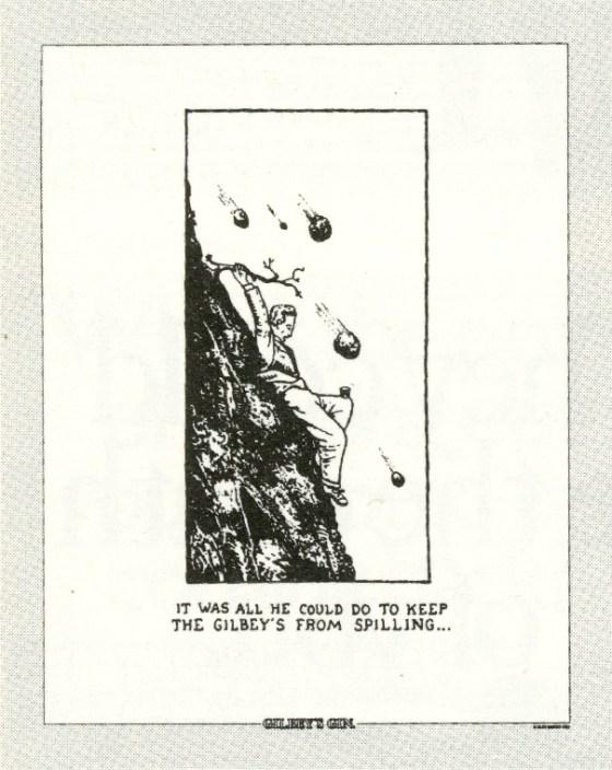 Gilbey's Gin, Glen Baxter, CDP 'Spilling'-01
