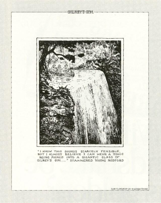 Gilbey's Gin, Glen Baxter, CDP 'Waterfall'-01