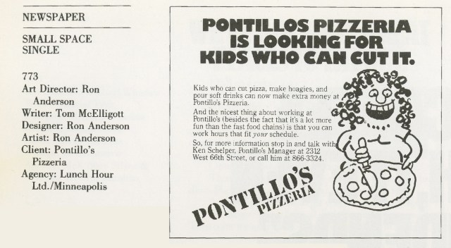 Tom McElligott, Pontillo's - 'Cut It'-01