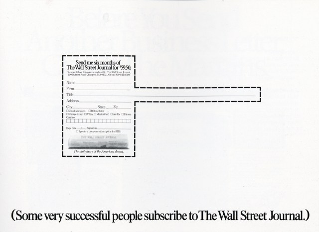 Tom McElligott, Wall Street Journal 'Title'-01