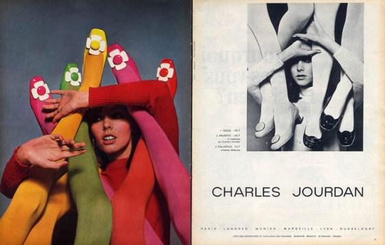 'Daisy Shoes' Charles Jourdan, Guy Bourdain, 1967