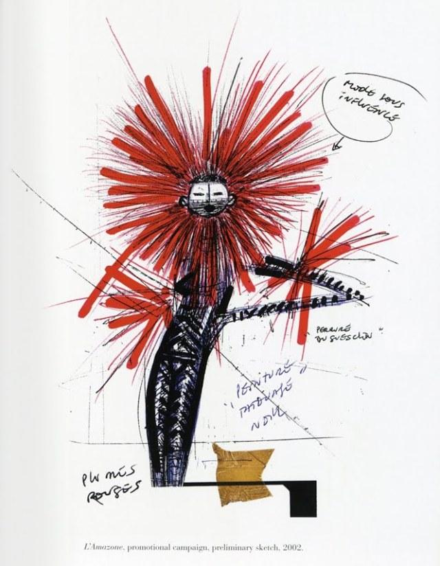 Lafayette working sketch L'Amazone 2002