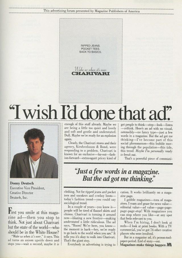 Charivari - 'I Wish I'd Done That Ad'-01