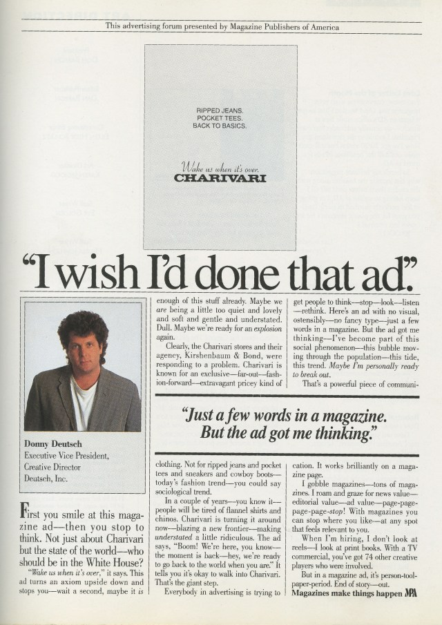Charivari - 'I Wish I'd Done That Ad'-01