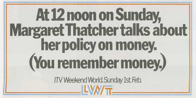 LWT 37. 'Money'