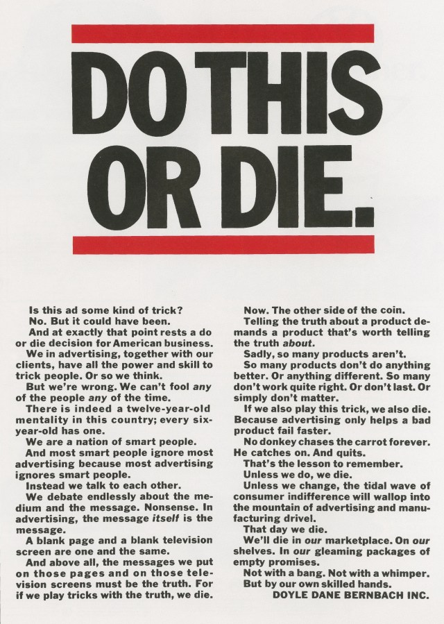 DDB, 'Do This Or Die', Len Sirowitz-01
