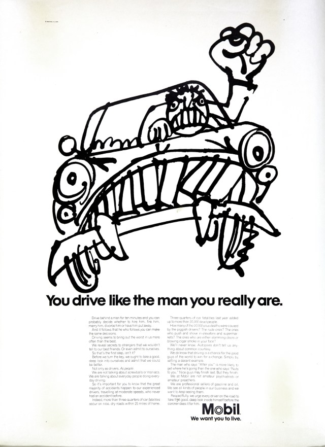 Mobil 'You drive' Len Sirowitz, DDB