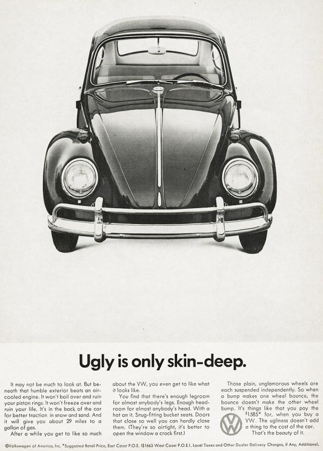 VW 'Ugly' Len Sirowitz, DDB, 1966