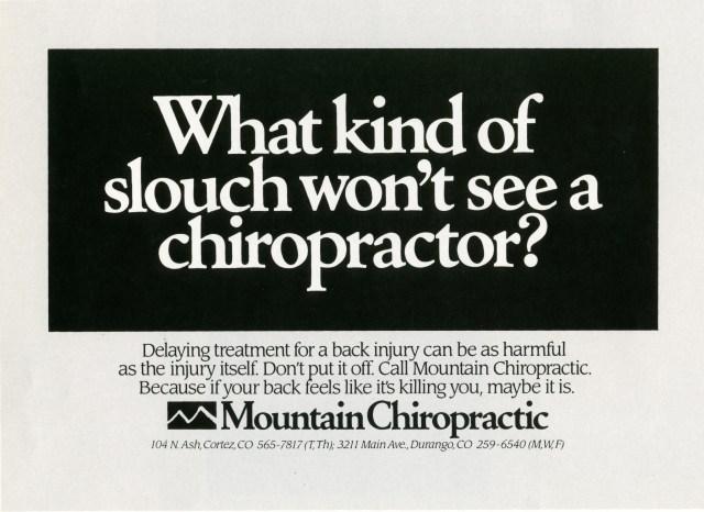 Fallon McElligott 'Chiropractor' 1-01
