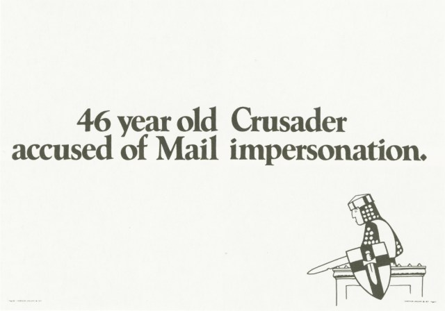 Jeremy Sinclair, 'The Mail, 'Impersonator', Saatchi's-01 copy