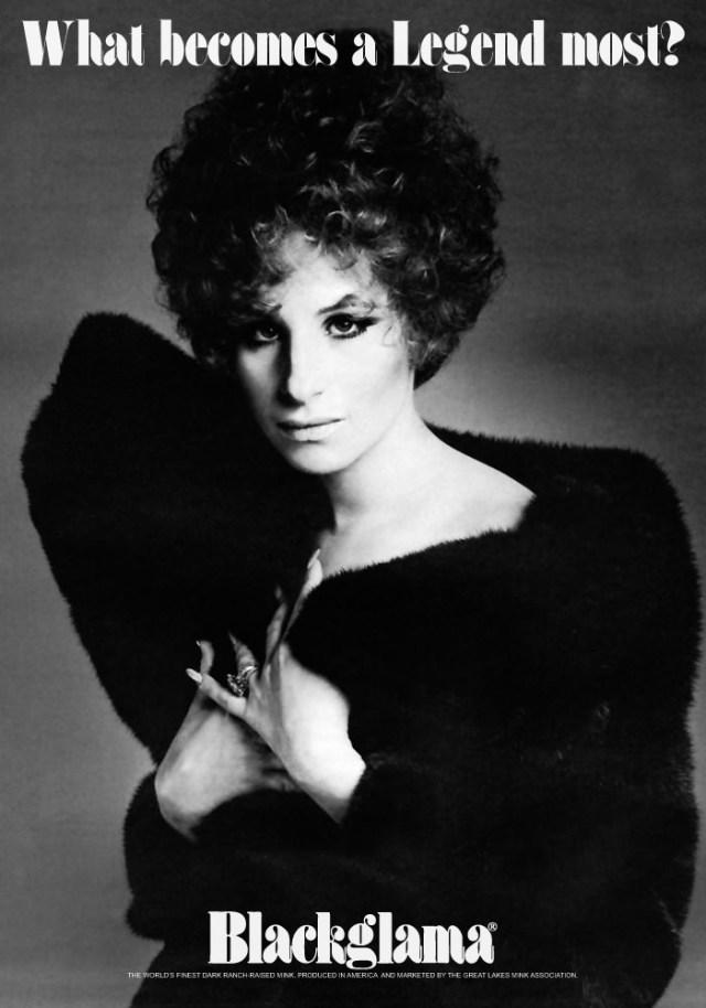 Blackgamma ad - 1968, barbra streisand