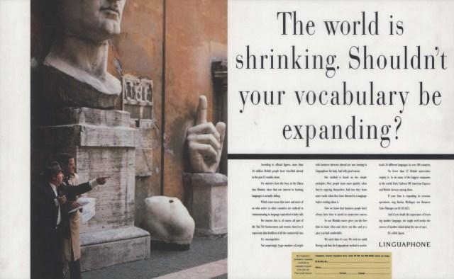 Linguaphone, 'The world is', Leagas Delaney