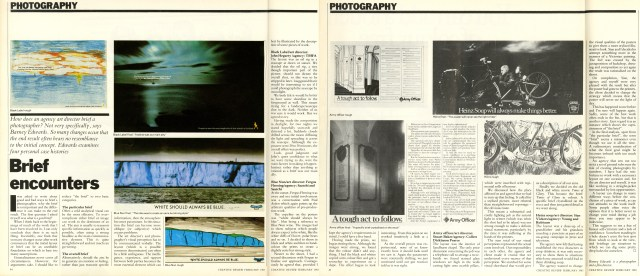 Barney Edwards, Creative Review Article. 1983-01