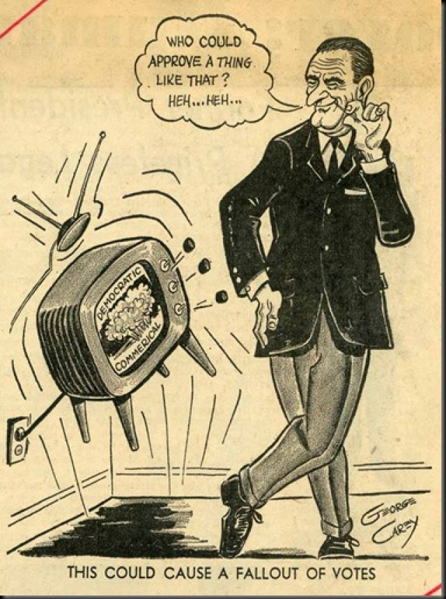 Daisy Ad, LBJ Cartoon.