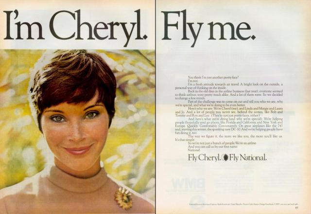 National Airlines 'I'm Cheryl, Fly Me'