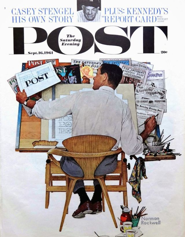 The Saturday Evening Post 'Lettering;', Norman Rockwell