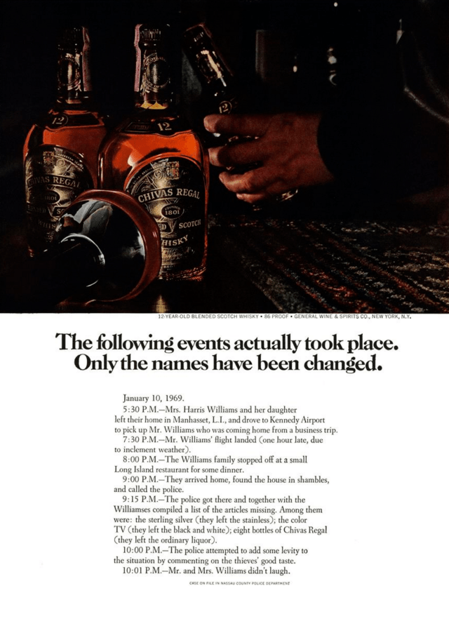 5. 'The Following Events' Chivas Regal, DDB NY (Esquire)