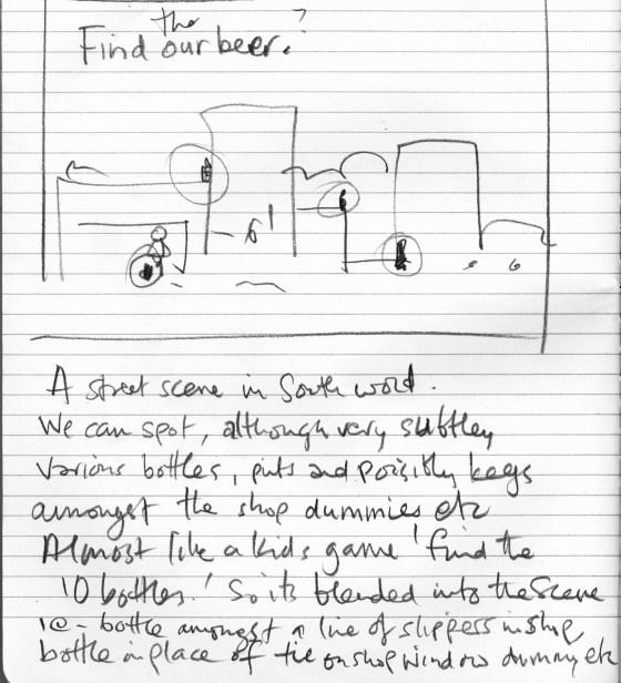 6. 'Find The Beer' Adnams,' Scribble