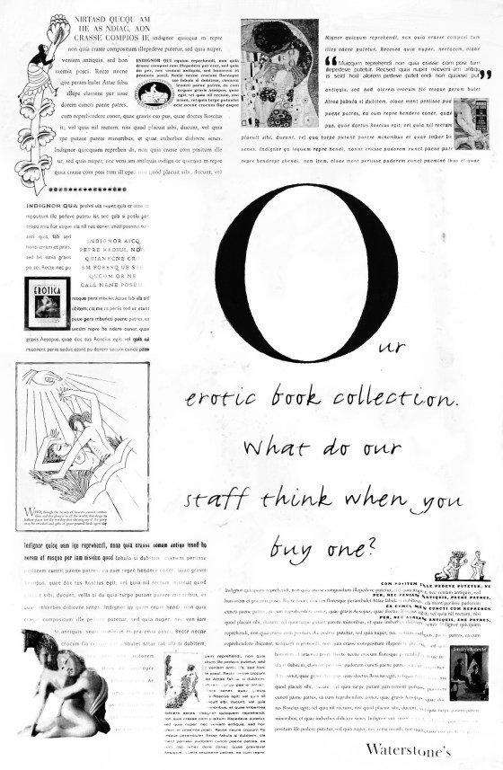 7. 'Erotic Books' Waterstones, Dave Dye, Leagas Delaney