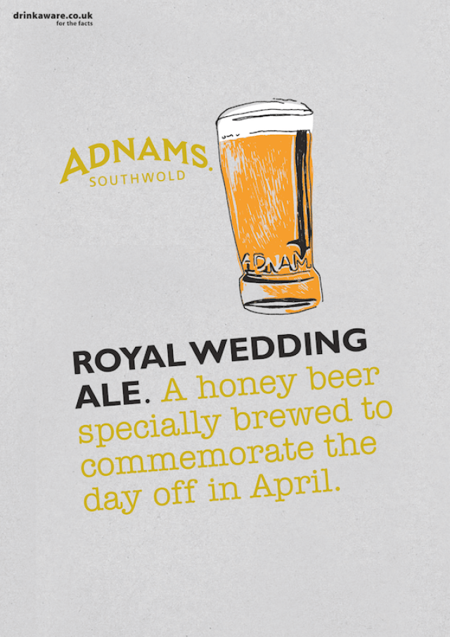 'A Honey Beer' Royal Wedding Ale, Adnams.png