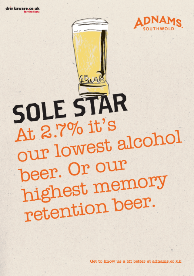 'At 2.7% It's' Sole Star, Adnams.png
