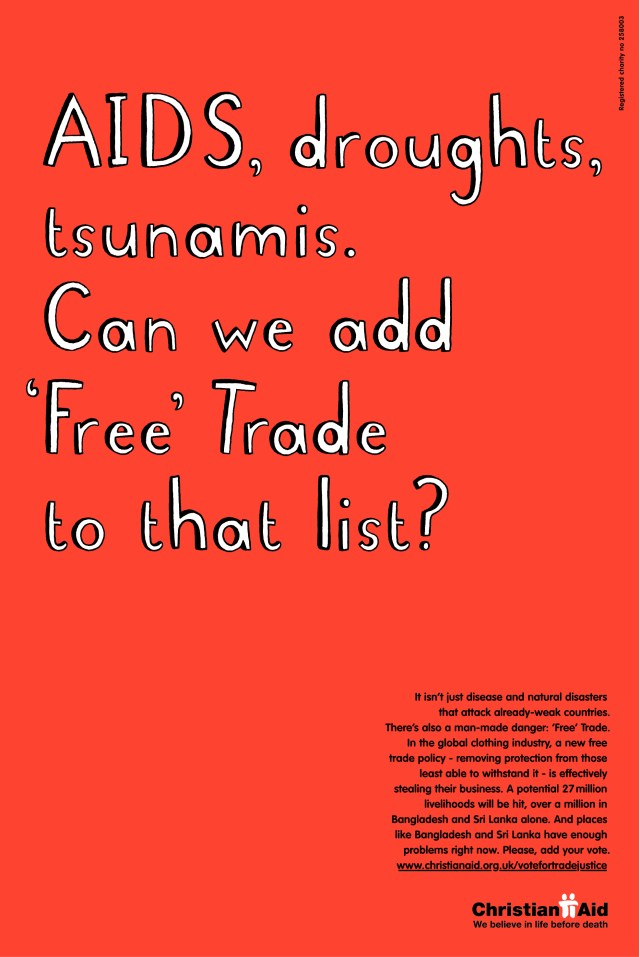 Christian Aid, 'Free Trade'. CDD