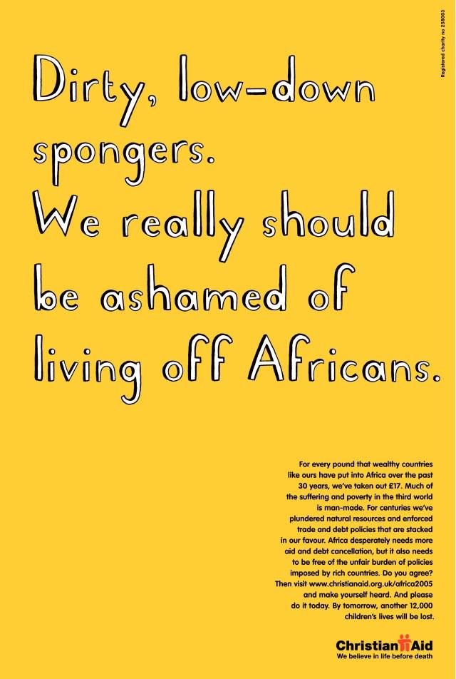 Christian Aid, 'Spongers'. CDD