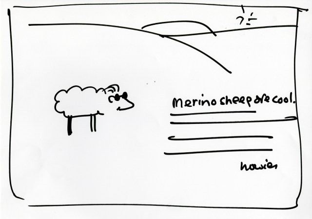 'Merino Sheep' Howies, DHM, Rough.jpg