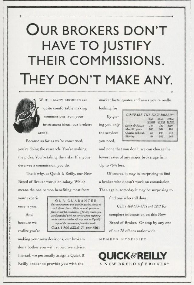 'Our Brokers Don't' Quick & ReIlly, Kirshenbaum Bond .jpg