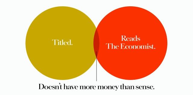 'Titled' The Economist, Dave Dye, Venn, 48 sheet, AMV-BBDO