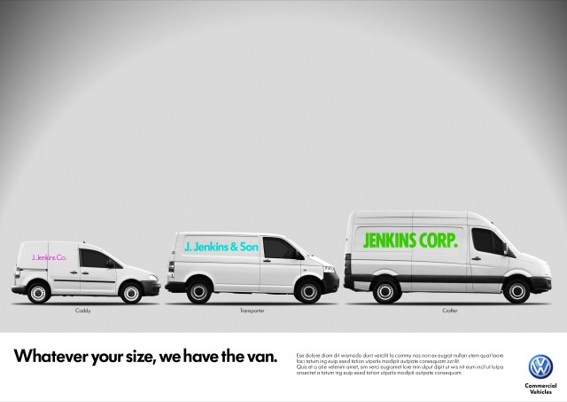 'Whatever your size, Jenkins', Volkswagen CV, DHM-01