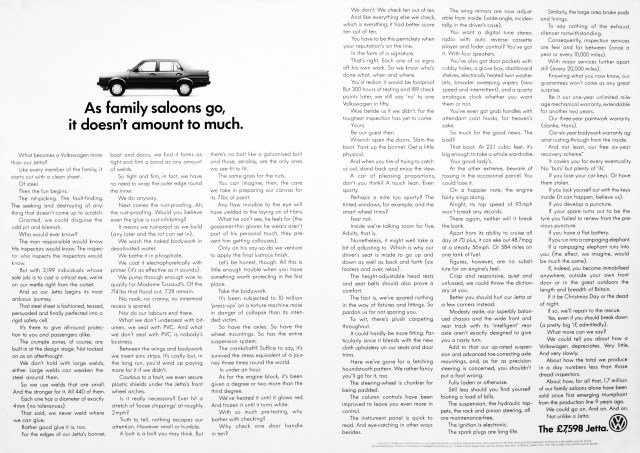 'As Family Saloons' Volkswagen, Mark Reddy, DDB-01