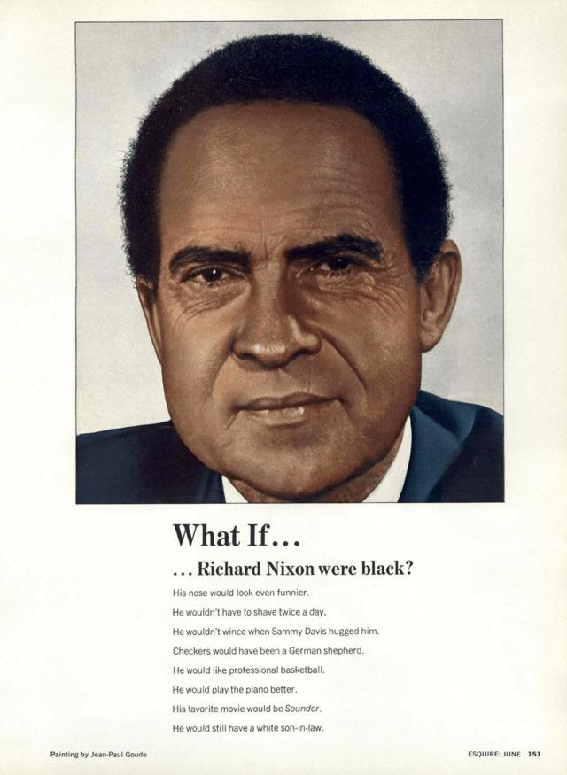 Jean Paul Goude 'Black Nixon', Esquire.png